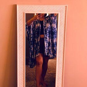 Tye dye boho batwing sleeve kimono